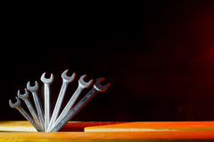 Set of wrenches Stock Image
