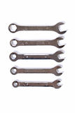Set wrenchs working tools Royalty Free Stock Photography
