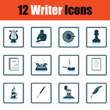 Set of writer icons Royalty Free Stock Images