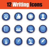 Set of writer icons Royalty Free Stock Photography
