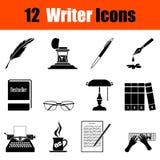 Set of writer icons Stock Image