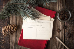 Set for writing Christmas wishes horizontal Stock Images