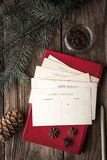 Set for writing Christmas wishes vertical Royalty Free Stock Photography