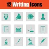 Set of Writing icons Stock Image