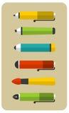 Set of writing utensils. Royalty Free Stock Photo