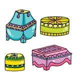 Set wschodni biżuteryjni pudełka Zdjęcie Royalty Free