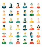 Set wth avatars, flat design Stock Images