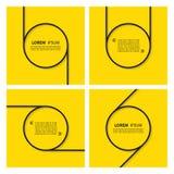 Set wycena tekst gulgocze na żółtym tle Fotografia Royalty Free