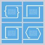 Set wycena teksta bąble Wycena pustego miejsca szablon Zdjęcia Stock