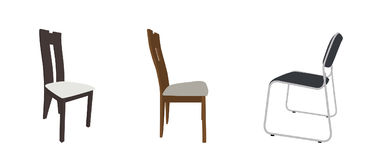 Set wygodni krzesła nowożytnego i antykwarskiego bar i royalty ilustracja