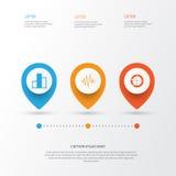 Set wykresy, diagramy I statystyk ikony, Premii ilości symbolu kolekcja Ikony Mogą Używać Dla sieci, App I UI, Obrazy Royalty Free