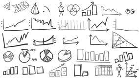 Set wykresy i diagramy ilustracja wektor