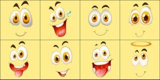 Set wyraz twarzy ilustracja wektor