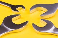 Set wyrwania na żółtym tle Obraz Royalty Free