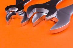 Set wyrwania na pomarańczowym tle Fotografia Royalty Free