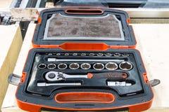Set wyrwanie W toolbox Zdjęcia Royalty Free