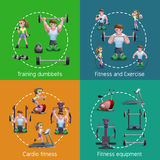 Set Of 2x2 Fitness Images Royalty Free Stock Photography