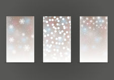 Set of 240 x 400 shiny banners Stock Photo