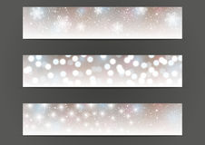 Set of 500 x 100 shiny banners Stock Image