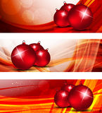 Set of xmas banners Stock Image