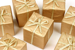 Set of Xmas gifts Stock Images