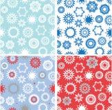 Set of xmas seamless patterns royalty free stock photography