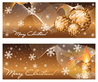 Set xmas winter banners Stock Images