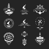 Set of yacht club logos. Stock Photo