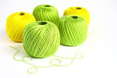 Set Yarn. A set of yarn for knitting Stock Photo