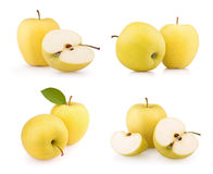 Set yellow apples Royalty Free Stock Photos