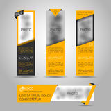 Set of yellow banners. Royalty Free Stock Photography