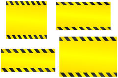 Set of yellow construction backgrounds Royalty Free Stock Image