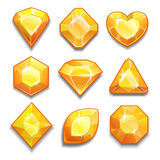 Set of yellow crystal Royalty Free Stock Photo
