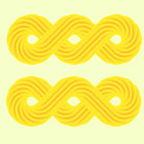 Set of yellow 3d infinity symbol Stock Photography