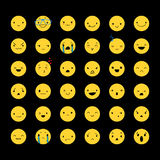 Set Yellow Emoticons 2 Royalty Free Stock Images