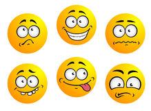 Set of yellow emoticons vector illustration
