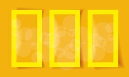 Set of Yellow Frames Royalty Free Stock Images