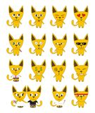 Set of yellow funny cats Stock Images