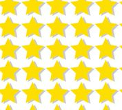Set of yellow gold abstract cute lovely stars with shadow. Vector illustration Stock Photography