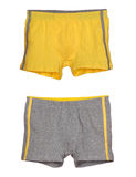Set of yellow and grey men's underwear. Isolated on white Royalty Free Stock Photography