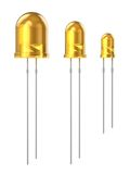 Set of yellow LEDs Royalty Free Stock Images