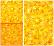 Set of yellow-orange abstract backgrounds Royalty Free Stock Images