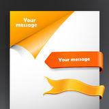 Set of yellow and orange ribbons Royalty Free Stock Photography