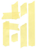 Set of yellow paper masking tapes Stock Photo