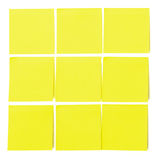 Set of yellow paper sticky stickers Stock Photography
