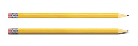 Set of Yellow Pencils Isolated on White Background. Royalty Free Stock Photography