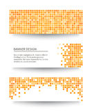 Set of yellow pixel banners. Vector illustration Stock Image