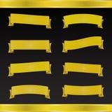 Set of yellow tape Stock Photo