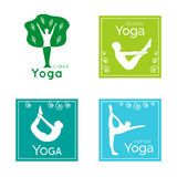 Set of yoga logos.  Stock Image