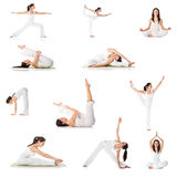 Set of yoga poses Stock Image